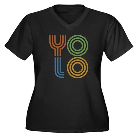 Retro YOLO-You Only Live Once Women's Plus Size V-