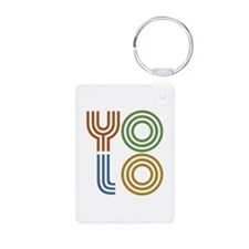 Retro YOLO-You Only Live Once Aluminum Photo Keych