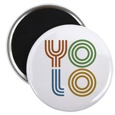 Retro YOLO-You Only Live Once Magnet