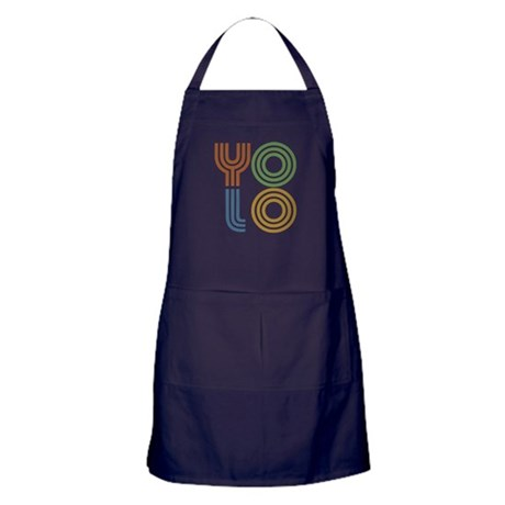 Retro YOLO-You Only Live Once Apron (dark)