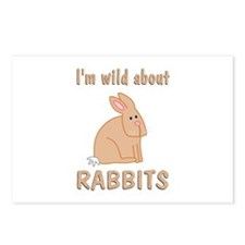 Wild About Rabbits Postcards (Package of 8)