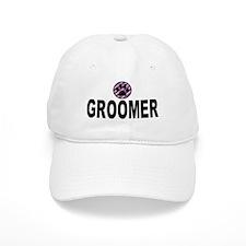 Groomer Purple Stripes Baseball Cap