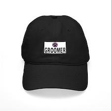 Groomer Purple Stripes Baseball Hat