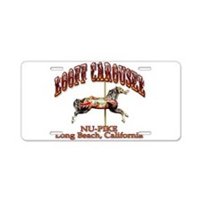 Loof Carousel on the Pike Aluminum License Plate
