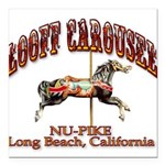 Loof Carousel on the Pike Square Car Magnet 3