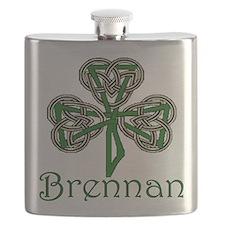 Brennan Shamrock Flask