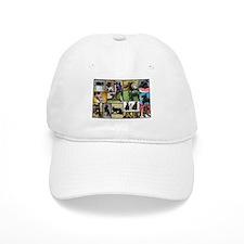 Black Schnauzer Collage Baseball Cap