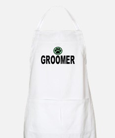 Groomer Green Stripes BBQ Apron