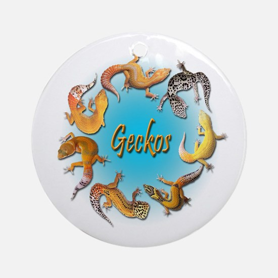 Circle of Geckos Ornament (Round)