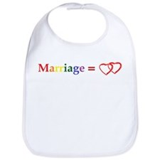 Marriage Equals Two Hearts Bib