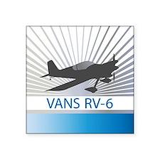 "Aircraft Vans RV-6 Square Sticker 3"" x 3"""