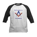 Grandpa is a Free Mason Kids Baseball Jersey