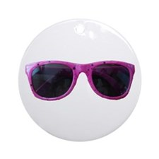 HOT PINK SUNGLASSES Ornament (Round)