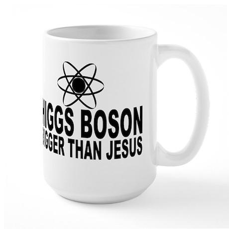 Higgs Boson Bigger Than Jesus Large Mug