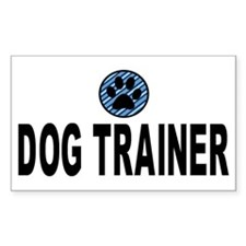Dog Trainer Blue Stripes Rectangle Decal