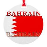 Bahrainblack.png Round Ornament