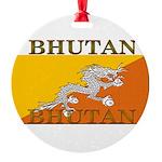 Bhutan.jpg Round Ornament