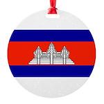 Cambodiablank.jpg Round Ornament