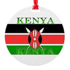 Kenyablack.png Round Ornament