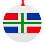 Groningenblank.jpg Round Ornament
