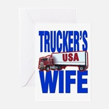 """Trucker's Wife"" Greeting Cards (Pk of 10)"
