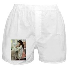 Little Girl With Her Doll Boxer Shorts