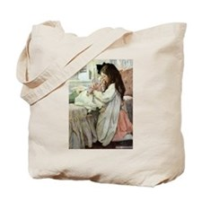 Little Girl With Her Doll Tote Bag
