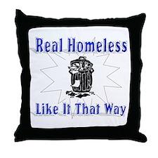 Homeless Like Throw Pillow