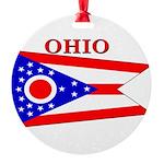 Ohio.png Round Ornament