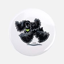 "Black Cocker Spaniel Play 3.5"" Button"