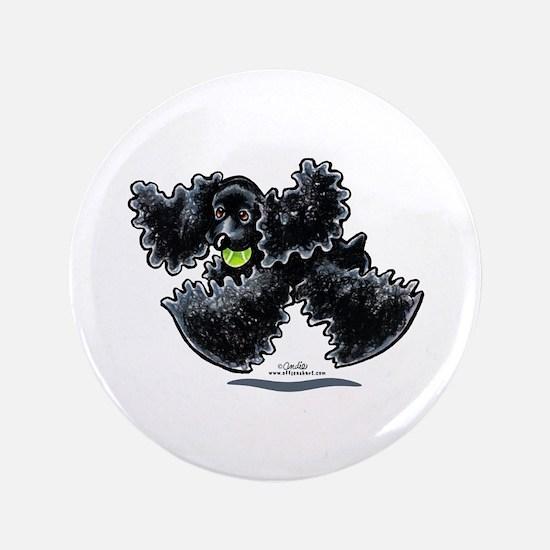 "Black Cocker Spaniel Play 3.5"" Button"