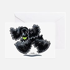 Black Cocker Spaniel Play Greeting Card