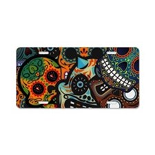 Day of the Dead Aluminum License Plate