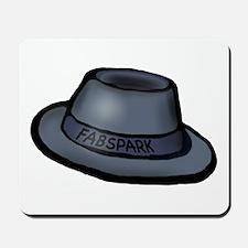 Hat, light Gray Hat Mousepad