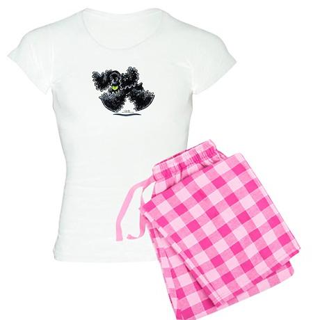 Black Cocker Spaniel Play Women's Light Pajamas