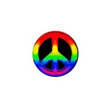 RAINBOW PEACE WATER COLOR Mini Button