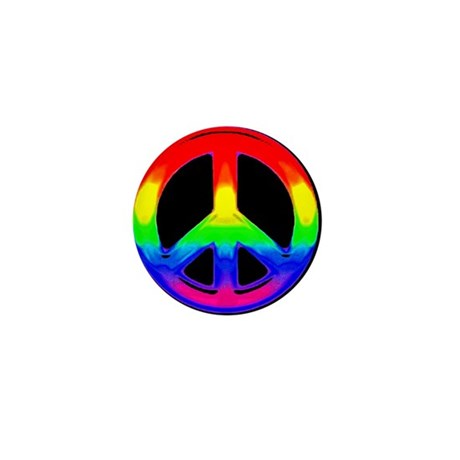 RAINBOW PEACE WATER COLOR Mini Button