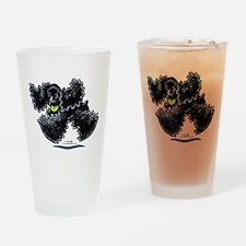 Black Cocker Spaniel Play Drinking Glass