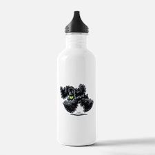 Black Cocker Spaniel Play Water Bottle