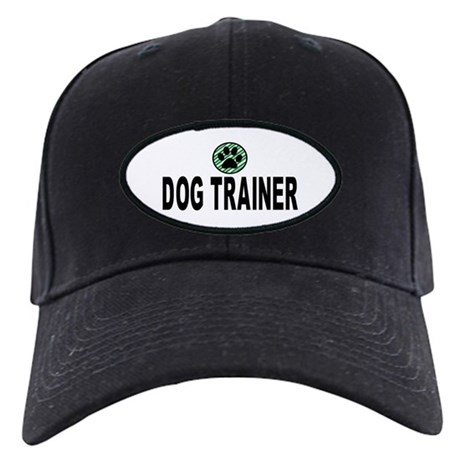 Dog Trainer Green Stripes Black Cap