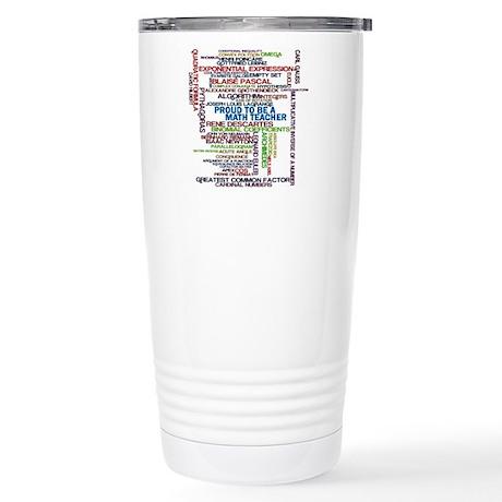Proud Math Teacher Stainless Steel Travel Mug