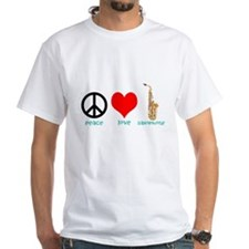 Peace Love Saxophone Shirt