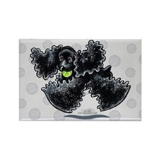 Black Cocker Spaniel Play Rectangle Magnet