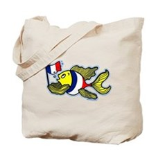 French Flag Fish Fabspark Flat Tote Bag