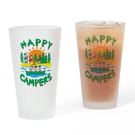 Happy Campers Drinking Glass