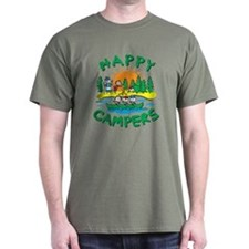 Happy Campers Green T-Shirt