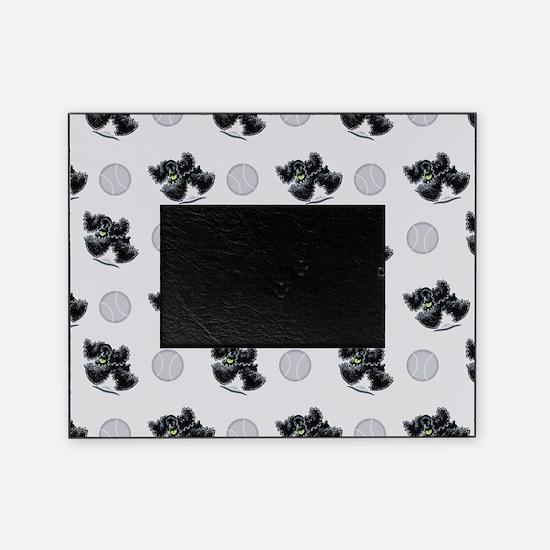 Black Cocker Spaniel Play Picture Frame
