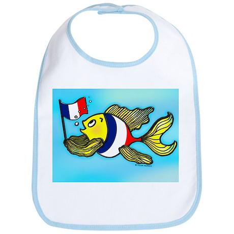 French Flag Fish Fabspark Bib