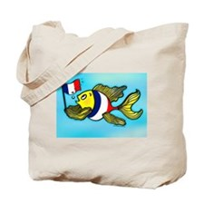 French Flag Fish Fabspark Tote Bag