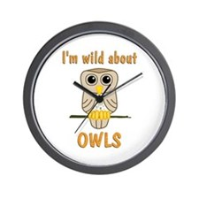 Wild About Owls Wall Clock
